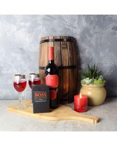 Uptown Wine & Chocolate Gift Basket