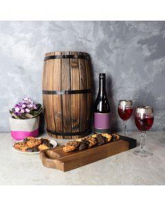 Amesbury Wine & Macaroons Basket