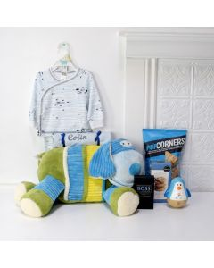 HE'S SO CUTE BABY GIFT SET, baby gift basket, welcome home baby gifts, new parent gifts