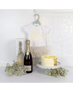 Precious Baby Girl Champagne & Cake Set, Baby Girl Gifts, Gifts For Baby Girl