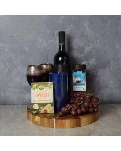 Kosher Wine & Cheese Gift Basket
