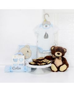 BABY BOY & THE TEDDY GIFT BASKET, baby girl gift basket, welcome home baby gifts, new parent gifts