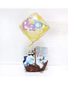 Sleepy Boy Baby Basket, baby gift baskets, baby boy, baby gift, new parent, baby