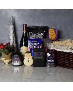Holiday Treats & Wine Gift Basket