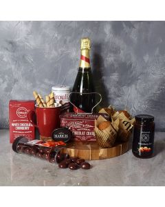 Muffin, Chocolate & Champagne Delight Gift Set