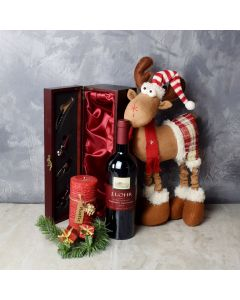 Holiday Reindeer & Cheer Gift Set, wine gift baskets, gourmet gifts, gifts