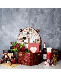 Dorset Park Romantic Picnic Basket, wine gift baskets, gourmet gift baskets, Valentine's Day gifts, gift baskets, romance