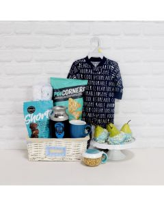 BOY'S BIRTH CELEBRATION GIFT BASKET, baby boy gift basket,, welcome home baby gifts, new parent gifts