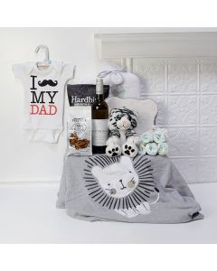 Proud Papa Comfort Basket, baby gift baskets, baby boy, baby gift, new parent, baby, champagne