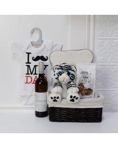 Proud Papa Gift Basket, baby gift baskets, baby boy, baby gift, new parent, baby, wine gift baskets