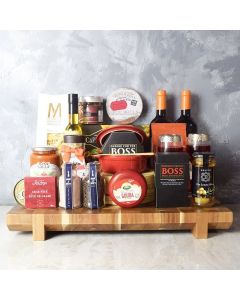 Deluxe Wine & Cheese Party Basket