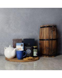 Cozy Kosher Tea & Chocolate Gift Tray, gift baskets, gourmet gifts, gifts, kosher