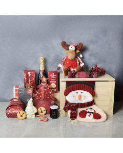 Christmas Soiree Gift Set, champagne gift baskets, Christmas gift baskets, gourmet gift baskets