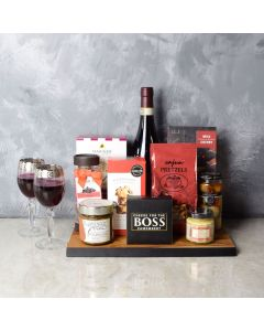 Rustic Wine & Cheese Gift Board, wine gift baskets, gourmet gifts, gifts
