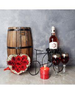 Morningside Valentine's Day Basket, wine gift baskets, floral gift baskets, Valentine's Day gifts, gift baskets, romance