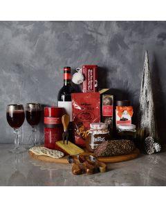 Deluxe Yuletide Wine & Cheese Gift Basket