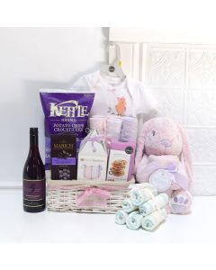 LOTS OF BABY GIRL GIFTS BASKET, baby girl gift basket, welcome home baby gifts, new parent gifts