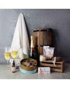 Argan Oil & Champagne Gift Set