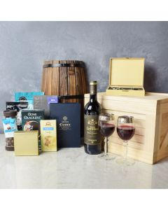Ultimate Chocolate & Wine Gift Crate, wine gift baskets, gourmet gifts, gifts