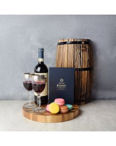 Macaron & Wine for Two Gift Set, wine gift baskets, gourmet gifts, gifts