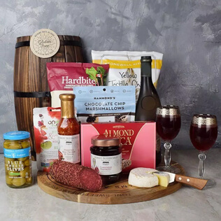 Wish You Success Wine & Goodies Gift Basket Manchester