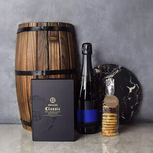 Gourmet Cookies & Champagne Gift Basket New York City