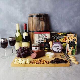 Grand Cheese& wine Gift Basket New York City