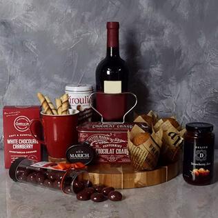 Muffin,Chocolate & Wine Delight Gift Set New York City