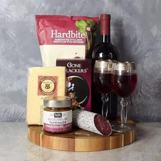 Savoury Treats Wine Basket New York City
