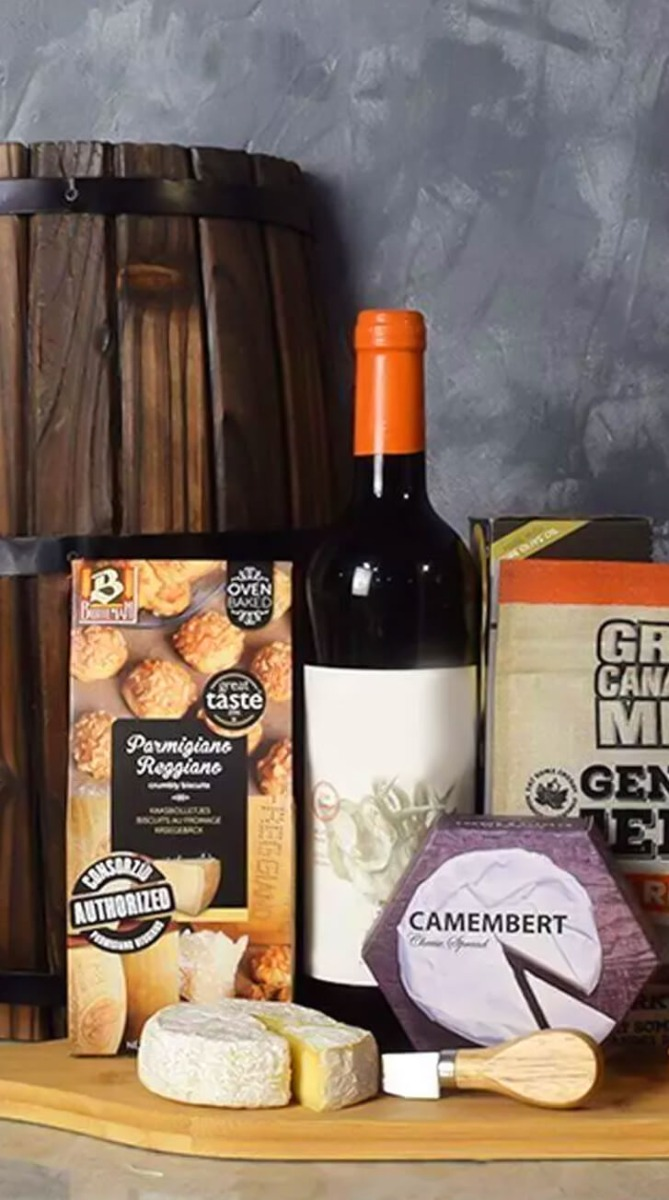 Wine & Cheesy Treats Platter