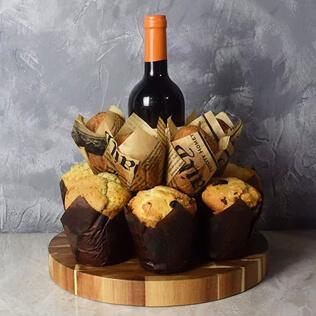 Wine & Muffins Gift Set New York City